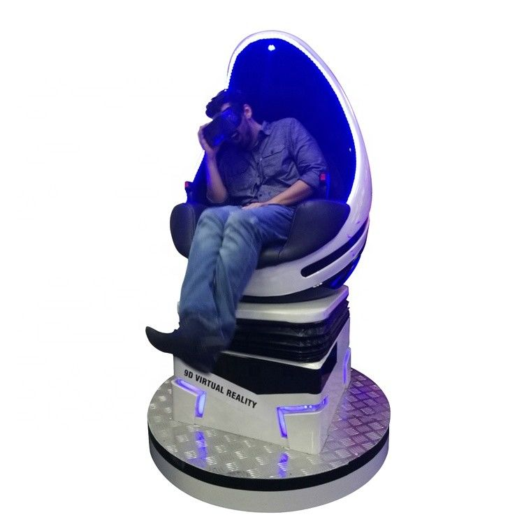 100*100*185cm 9D Egg VR Cinema 3D Virtual Reality Glass With 1 Seat Egg Chair